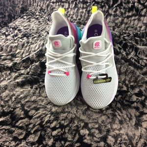 Girls cushion fit bright colored sneakers
